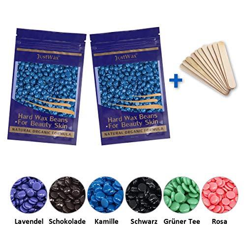 Wachs Haarentfernung Wachsbohnen - Wachsperlen - Wax Beans Wachs Enthaarung - Waxing Perlen Waxbohnen - Waxing Haarentfernung - Hardwax Beads Niedrigtemperatur ohne Vliesstreife 200g(Kamille)