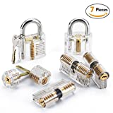 LUWANZ 7 tlg Lockpicking Übungsschloss Set