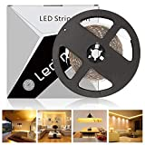 LEDMO Warmweiß Led Streifen, SMD2835 300 LEDs, 4500 Lumen, 2700 Kevin, 5m Länge flexible LED Leiste, LED Strip für Küchenschrank Schlafzimmer Startseite dekorative Beleuchtung Innenraum