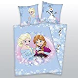 Bettwäsche FLANELL Herding Disney Frozen Eiskönigin Anna + Elsa 135 x 200 NEU - All-In-One-Outlet-24 -