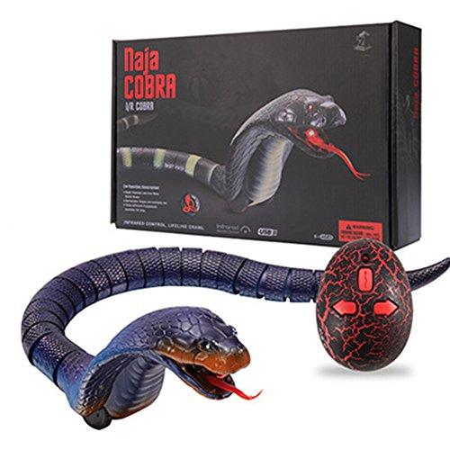 Zantec ABS Material Hohe Nachahmung Schlange Tierspielzeug Lustige Streich Spielzeug mit Fernbedienung für Kinder
