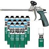 silisto pur 1K hiver Pistolet mousse 12x 750ml jusqu'à -10°C verarbeitbar + Pistolet type slim + Mousse Nettoyant 500ml