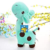 BovoYa 18 cm giraffe plush toy, kids rag doll cute cuddly toy gift for baby kids