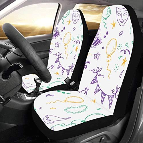 Retro Halskette Ringe benutzerdefinierte Neue universal fit Auto Drive autositzbezüge Schutz für Frauen Automobil Jeep LKW SUV Fahrzeug vollen Satz zubehör für Erwachsene Baby (Set von 2 vorne)