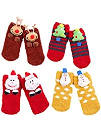 Stillshine Calcetines de Navidad en 3D, Childrens Baby Boy o niña y Adultos Cosy Cotton