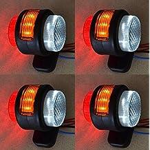 4 X 24 V Seite Outline Orange Rot Weiß Marker 15 LEDs Lichter LKW Truck  Chassis