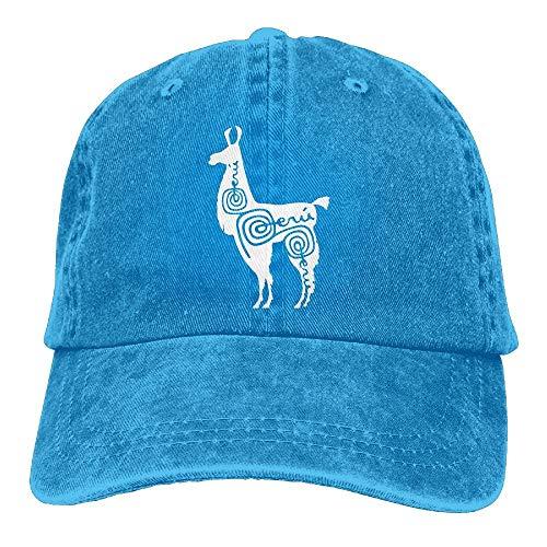 QIOOJ Sports Denim Cap Alpaca Peru-1 Women Snapback Casquettes Adjustable Baseball Cap -