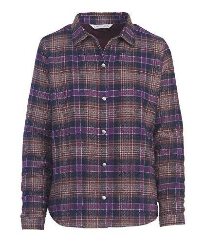 Woolrich Damen Flanell (Woolrich Damen Button-down-Hemd Gr. M (US Größe) (US Größe), Wisteria)