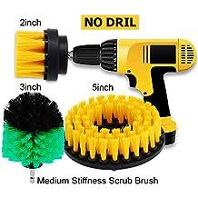 Oxoxo 2a + 3a + 5in drill Brush Medium Heavy Duty scrubbing Cleaning Power scrubber kit di pulizia per per piastrelle bagno doccia/vasca da bagno, cucina barche