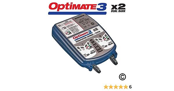 Optimate 3x2 Dual Bank 12v Motorrad Automatisches Batterieladegerät Optimierer Auto