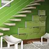 Terry Harmony Caja Zapatero, plástico, Verde, 51x 19x 39cm