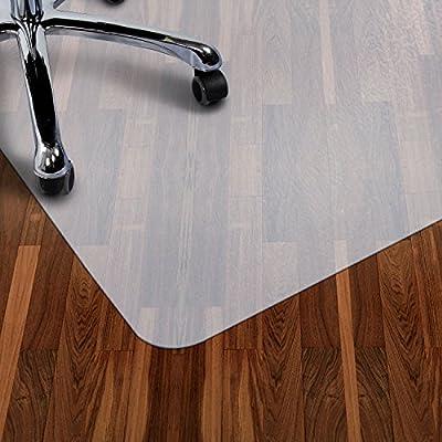 Antaprcis PE Bodenschutzmatte, Bodenschutz Bürostuhlunterlage für Hartböden Teppich, Rutschfeste Bodenmatte Schutzmatte Unterlegmatte für Bürostuhl Fitnessgeräte