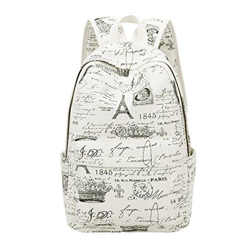 Canvas Katze Rucksack Damen Mädchen Schultasche Reise Backpack Tasche Daypack DE