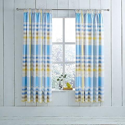 Camden Curtain Panel Size: 168 cm W x 183 cm L, Colour: Blue
