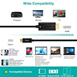 USB C to HDMI Cable,CHOETECH 4K@60Hz (Thunderbolt 3 Compatible) HDMI Cable Compatible with Apple iPad Pro,2018/2017/2016 MacBookPro,iMac,MacBook,ChromeBookl,Note10/S10/Note 9/S9,Huawei P30/P20/Mate20