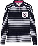 Tommy Hilfiger Damen Langarm Polo Shirt, Mehrfarbig (Navy Blazer), Medium