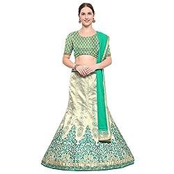 Styles Closet Womens Silk Lehenga Choli(BND-7197_Blue_Free Size)