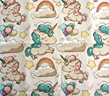 Baby Mullwindeln Spucktücher 70 x 80 cm von Family-Kollektion I 5 x Baumwolle Mulltücher I Baumwollwindeln Stoffwindeln Set (Einhorn)
