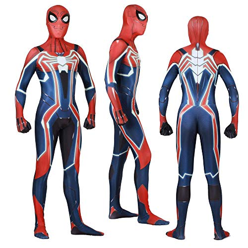Spiderman Tragen Kostüm - KLEIDEE PS4 Beschleunigen Spiderman Cosplay Kostüm Lycra Siamese Strumpfhosen 3D Digitaldruck Enge Weihnachten Halloween Kostüm Für Erwachsene Tragen XXL