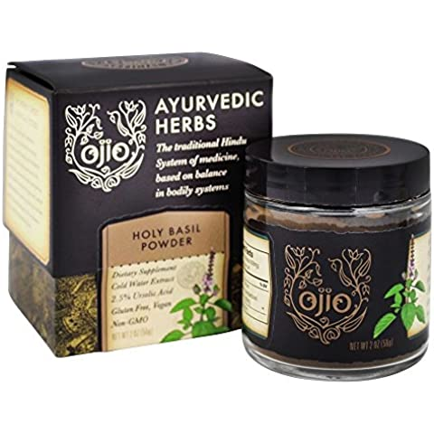 Ayurvédica hierbas, albahaca santa en polvo, a 2 oz (56 g) - Ojio