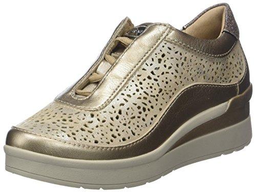Stonefly Cream 2 bis Goat Lam, Zapatos con Plataforma para Mujer, Dorado Metal Fizz Z00, 38 EU