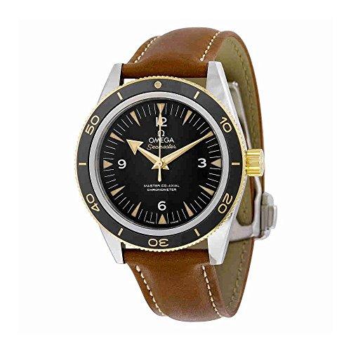 Omega de hombre 41mm correa de cuero caja de acero automático analógico reloj 23322412101001