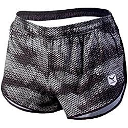 Taymory Haze R50 Pantalones Cortos de Correr, Hombre, Gris, XL
