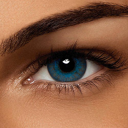 Air Optix Colors, brilliant blue, Monatslinsen weich, 2 Stück / BC 8.6 mm / DIA 14.2 / -1 Dioptrien