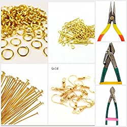 Findings DIY jewellery gold tools combo for jewellery making- All findings with cutting-bending tools