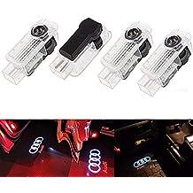ALBRIGHT 4 piezas de LED proyector puerta logotipo de la sombra de luz Lámparas de bienvenida