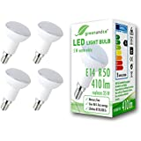 4x greenandco® LED Lampe ersetzt 35 Watt R50 E14 matt, 5W 410 Lumen 3000K warmweiß 180° 230V AC, nicht dimmbar, 2 Jahre Garantie