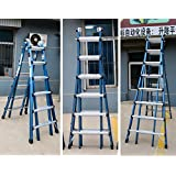 RFV Escalera telescópica Plegable multifunción, Escalera de Aluminio, Escalera de ingeniería, Escalera de