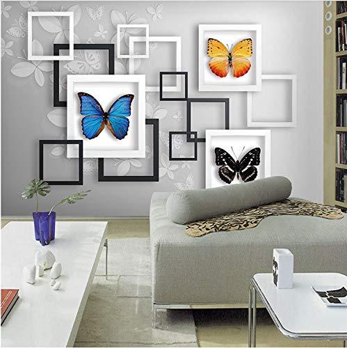 Custom Home Office Schreibtische (Art Frame Butterfly Photo Mural Living Room Bedroom Office Backdrop Wall Modern Simple Home Decor Custom 3D Tapete200*140 Cm)
