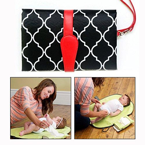 Itian Baby Tragbar Matten,Wickelunterlage für Reisen,zum Aufhängen Matte Wickeltasche