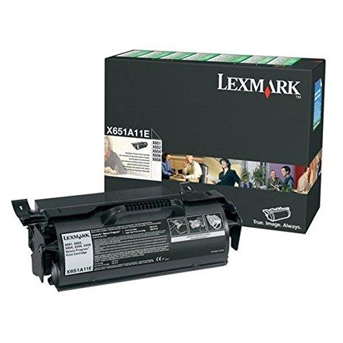 Preisvergleich Produktbild Lexmark X651A11E X651, X652, X654, X656, X658, Tonerkartusche 7.000 Seiten Rückgabe, schwarz