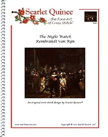 Scarlet Quince VRI001 The Night Watch by Rembrandt van Rijn Counted Cross Stitch Chart, Regular Size Symbols by Scarlet Quince