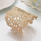 Shining Diva Fashion Gold Plated Kada Bangle Cuff Stylish Bracelet for Women & Girls(Golden)(9253b)
