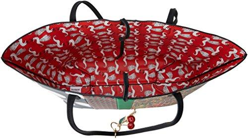 Desigual Bols_lola Pacth Capri Donna Borse a spalla Rosso (Fiesta) 28x13x30 cm (B x H x T)