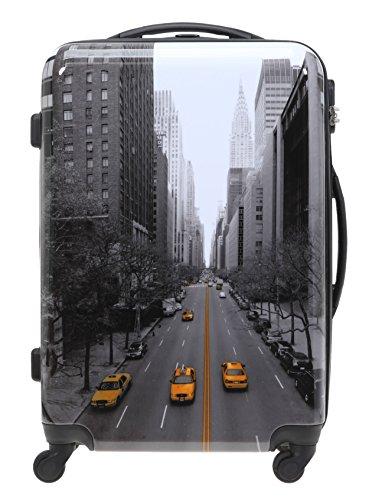 FABRIZIO Hartschalenkoffer Koffer 70 cm + Koffergurt + Flüßigkeitenbeutel (70 cm, New York) New York