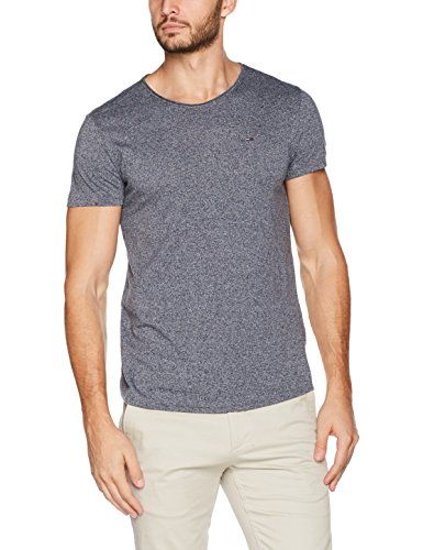 Tommy Jeans Herren T-Shirt Tjm Basic CN Knit S/S 25, Blau (Black Iris 002), X-Large (Denim-t-shirt-jeans)