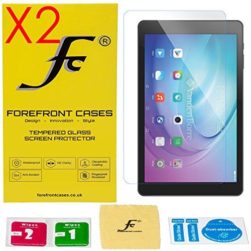 Forefront Cases® [HD KLARHEIT] Gehärtetes Glas Bildschirm Schutz Protektor Folie für Huawei MediaPad T2 10.0 Pro [ULTRA DÜNN nur 0.3mm] - 2ER PACK