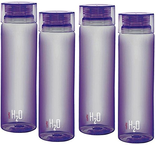 Cello H2o Unbreakable bottle Purple Set Of 4