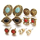 #9: Shining Diva Fashion Jewellery Antique Stylish Fancy Party Wear Studs Traditional Earrings For Women Girls Combo