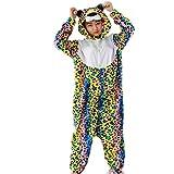 DATO Unisexo Adulto Onesie Kigurumi Pijamas Traje Disfraz de Halloween Carnaval Anime Cosplay (Leopardo)