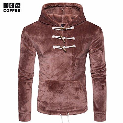 RF-Vêtements pour hommes Pendant Le Printemps et l'automne Men's Fashion Klaxons de Coral Fleece Hoodies Pull tête Fixe