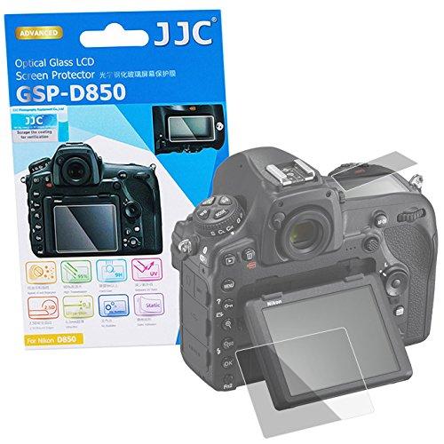 JJC Hochwertiger Displayschutz Screen Protector aus gehaertetem Echtglas, passend für Nikon D850