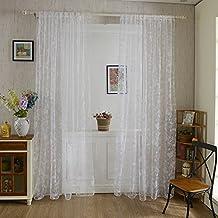 miabens cortinas de dulce mariposa de gasa drapeada fina separador para puerta ventana cm
