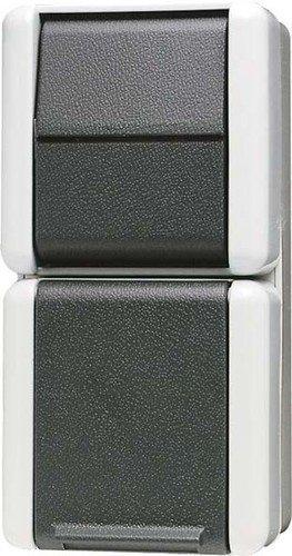 Jung 876 W Kombination 876W Schalter-Steckdose, Weiß -
