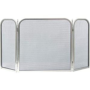 Home Discount Fire Vida Roxby Fire Screen Spark Guard Square, Nickel