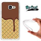 BeCool® Fun - Coque Etui Housse en GEL Flex Silicone TPU Samsung Galaxy A3 2016 , protège et s'adapte a la perfection a ton Smartphone et avec notre design exclusif.Cookies et chocolat